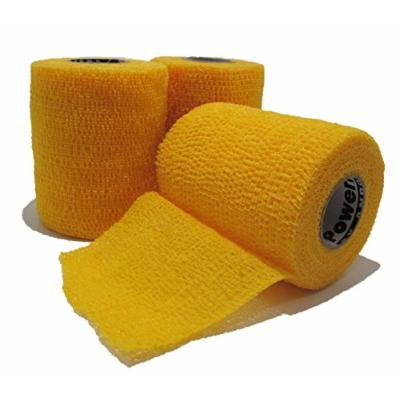 Powerflex 3 Cohesive Flexible Bandage/tape 3-pack (Yellow)