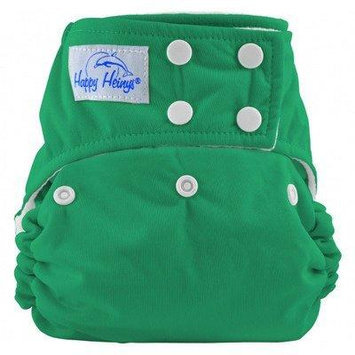 Happy Heinys ONE for ALL One Size Cloth Diaper with Snap Closure + 2 Microfiber Inserts (Kelly Green)