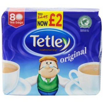 Tetley Tea, 80 Count Tea Bag (Pack of 6)
