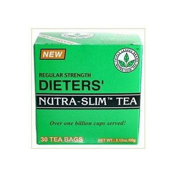 Regular Strength Dieters' Nature-Slim Tea Triple Leaves Brand - 30 Tea Bags