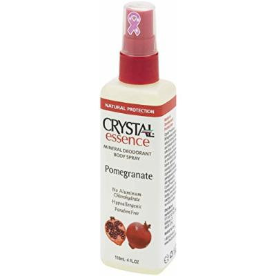 CRYSTAL essence Mineral Deodorant Body Spray - Pomegranate (4 fl oz) - 12 Pack