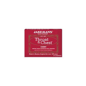 Jakemans Cherry Throat & Chest Lozenges, Cherry Menthol 24 CT (Pack of 2)