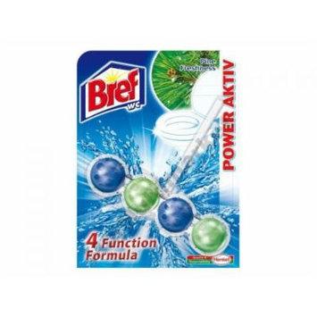 Bref by Henkel - Automatic Toilet Cleaning Power Balls - 4 Functions - Pine Freshness - 6 Count (2 x 3)