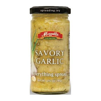 Mezzetta Everything Spread 6.5oz-7oz Glass Jar (Pack of 4) Select Flavor Below (Savory Garlic 6.75oz)