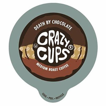 Crazy Cups Death By Chocolate Flavored Coffee Single Serve cups for Keurig K-cup Brewer 22 K-cup