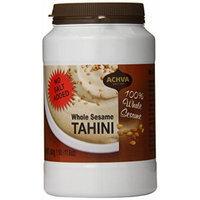 Achva Tahini, Dark with Shell, 17.6-Ounce Jars (Pack of 12)