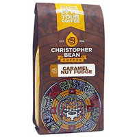Christopher Bean Coffee Flavored Decaffeinated Ground Coffee, Caramel Nut Fudge Truffle, 12 Ounce