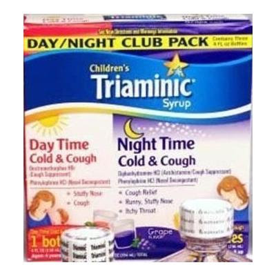 Children's Triaminic Syrup, 3 - 4 Fl Oz Bottles (1 Cherry & 2 Grape)