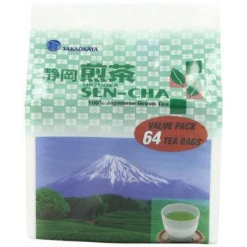 Takaokaya Tea T Green Sencha, TeaBags, 64-Count Units (Pack of 4)