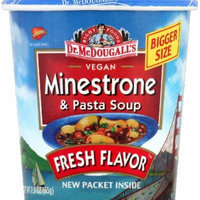 Dr. Mcdougalls Right Foods Vegan Minestrone Pasta Soup 2.3-Ounce Cups (Pack of 6)
