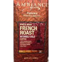32oz Ambiance Premium World Class Selections Whole Bean Coffee FRENCH ROAST Intensively Bold (2 Pounds Total)