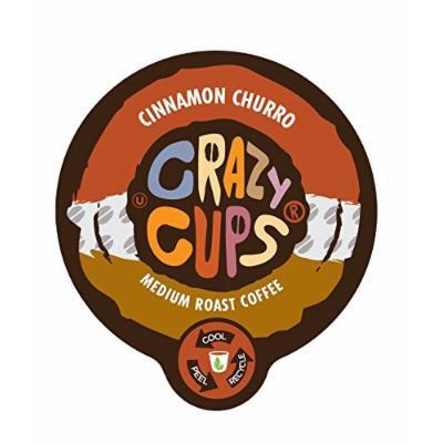 Crazy Cups Cinnamon Churro Flavored Coffee Single Serve Cups (88 Count)