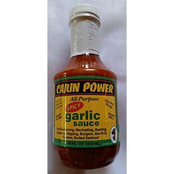 Cajun Power All-Purpose Spicy Garlic Sauce 16 ounce