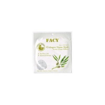 Facy Collagen Tissue Mask Acne Clear Effect with Tea Tree Oil and Seaweed Serum