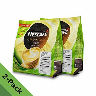 2 PACK - Nescafé Ipoh White Coffee HAZELNUT (30 Sachets TOTAL)  Flavored Premix Instant Coffee  Deliciously Milky with Creamy Nuttiness & Irresistible Hazelnut Aroma  Just Mix with Water, No Need of Sugar and Creamer  Made from Quality Beans  From...