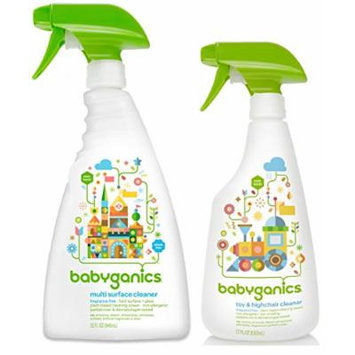 Babyganics Multi Surface Cleaner with Toy/Highchair Cleaner, Fragrance Free