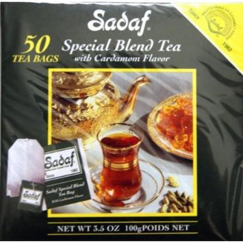 Sadaf Special Blend Tea with Cardamom, 50-count (Pack of 2)