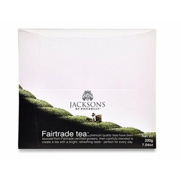 Jacksons of Piccadilly Premium Fairtrade Black Tea String & Tag (100 Tea)