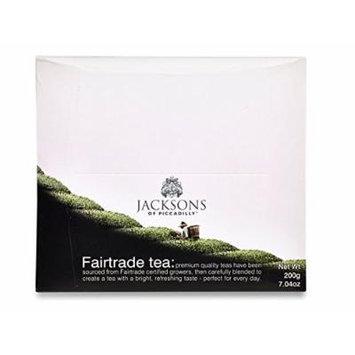 Jacksons of Piccadilly Premium Fairtrade Black Tea String & Tag (100 Tea)