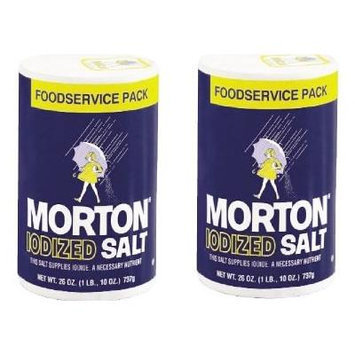 Morton Iodized Salt 26 oz (2PK-FoodService)