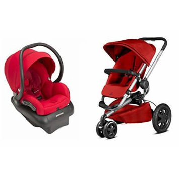 Quinny 2015 Buzz Xtra 2.0 Stroller with Maxi-Cosi Mico 30 Infant Car Seat, Red