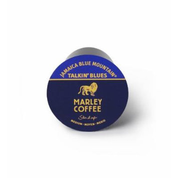 Marley Coffee Talkin Blues Coffee, 100% Jamaica Blue Mountain, Single Serve RealCup for Keurig K-cup Brewers, 96 count box