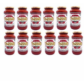 Vincents Pasta Sauce From the Heart of Little Italy NYC - 25 Ounce One Case (Hot)