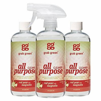 Grab Green Natural All Purpose Cleaner, Red Pear with Magnolia, 16 Ounce, 3 count