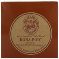 Aloha Island Coffee KONA-POD, Hazelnut Medium Roast, Kona & Hawaiian Coffee Blend, 12-Count Coffee Pods