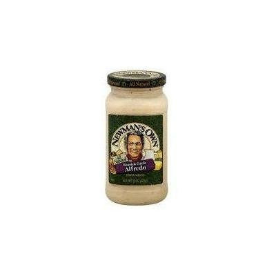Newman's Own Roasted Garlic Alfredo Sauce 15 Oz (Pack of 3)