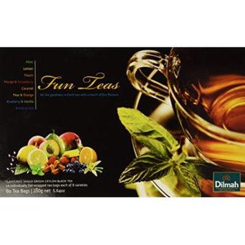 Dilmah, Gift of Tea, Fun Tea Collection, 80 Ct, 8 Varieties of Individually Foil Wrapped Tea Bags in a Gift Box, (Pack of 1)