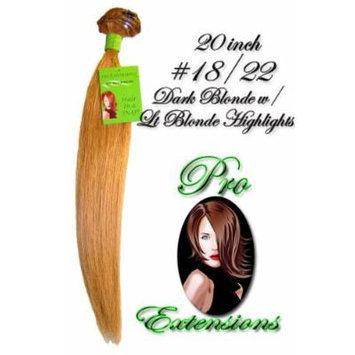 #18/22 Dark Blonde w/ Light Blonde Highlights - 20 inch