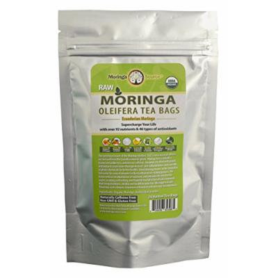 Moringa Tea - Orange Cranberry - USDA Organic - 24 Potent Tea Bags - Antioxidant Rich Energy Booster