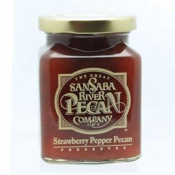 The Great San Saba River Pecan Company Strawberry Pepper Pecan Preserves