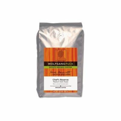 Wolfgang Puck Coffee Ground Chef's Reserve Estate Grown, 2 lbs - live love eat...and drink great coffee! Rich, smooth and aromatic. coffee pot coffee beans creme caramel pods coffee maker k cups mamaica me crazy decaf caffinated caribou blue mountain