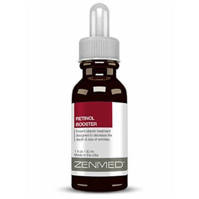 ZENMED Retinol Booster Serum Anti-Aging Hyaluronic Vitamin A Coenzyme Q10 1oz