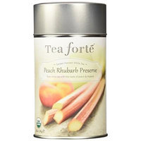 Tea Forte Garden Harvest White PEACH RHUBARB PRESERVE Organic Loose Leaf White Tea, 2.82 Ounce Tea Tin