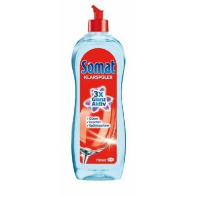 Somat Rinse Aid 3x Shine LARGE BOTTLE 750ML - Pack of 6 (Equals 9 regular bottles)