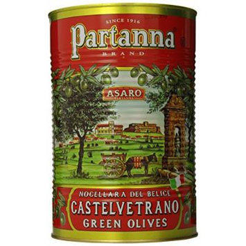 Partanna Green Castelvetrano Sicily Oilves, Pitted, 5.1 Pound