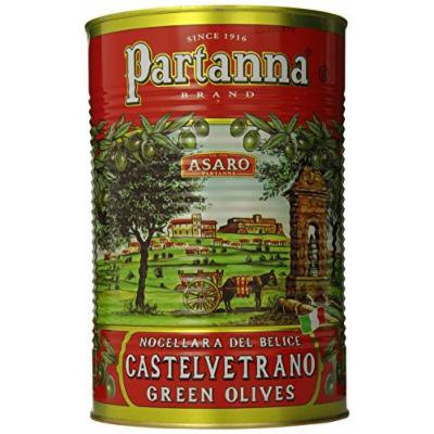 Partanna Green Castelvetrano Sicily Oilves, Pitted, 5.1 Pound