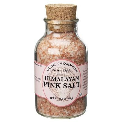 Olde Thompson Natural Himalayan Pink Salt, 18.6 Ounce Jar