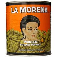 La Morena Serrano Peppers, 102 Ounce