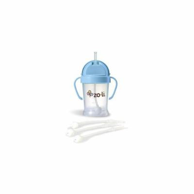 Zoli Bot Straw Sippy Cup (Blue) Plus 3 BOT Replacement Straws.