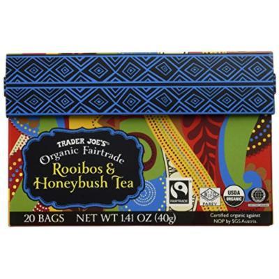 Trader Joe's Organic Fairtrade African Rooibos Honeybush Red Tea 20 Bags Herbal