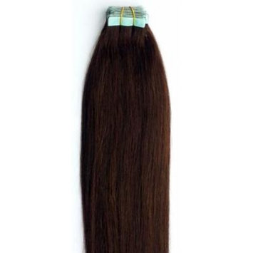 18 inches 100grs,40pcs, 100% Human Tape In Hair Extensions #2 Darkest Brown