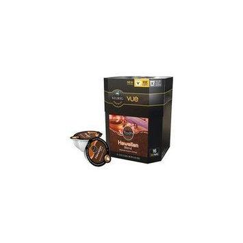 Tully's Coffee Hawaii Blend Medium Roast Coffee VUE Packs, 16 count(Case of 2)
