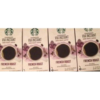 Starbucks Via Instant Coffee Bundle - French Roast (4 Boxes, 48 Count)