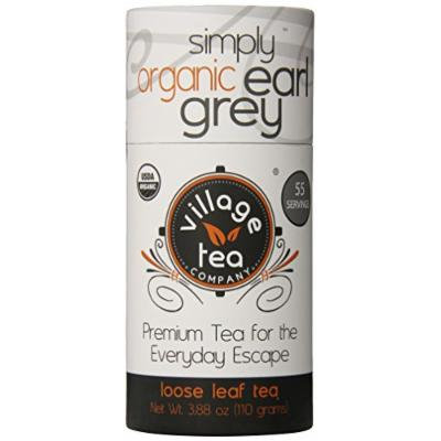 Village Tea Company Simply Earl Grey Loose Leaf Tea, 3.88-Ounce Canisters (Pack of 2)
