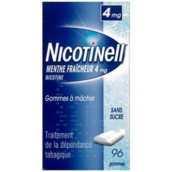 Nicotinell 4 MG Nicotine Smoking Cessation Chewing Gum - 96 Pieces - Icemint Flavor