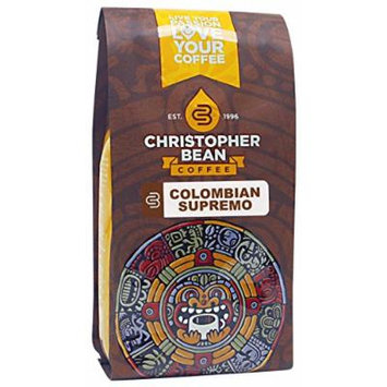 Christopher Bean Coffee Decaffeinated Ground Coffee, Decaf Colombian, 12 Ounce